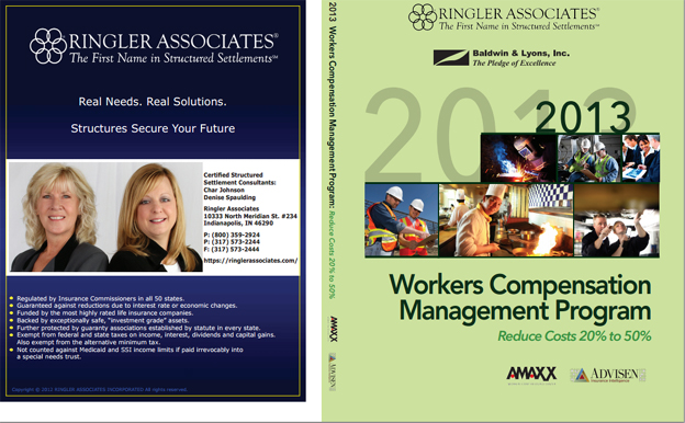 Co-Branded Private-Labeled Custom Workers Comp Book Cover for Ringler Associates and Baldwin & Lyons, Inc.