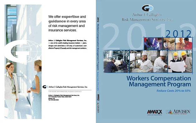 Workers Comp Book Custom Cover for Arthur J. Gallagher's Atlanta Office